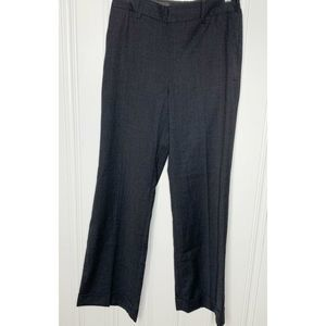 Boden Size 6R Gray Flare Wool Trousers Pants